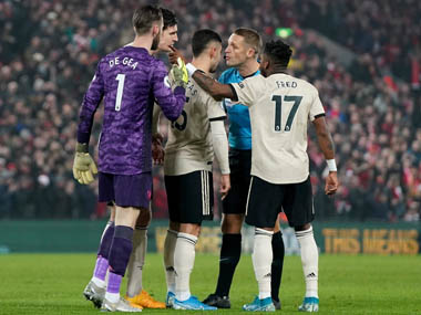 Premier League Manchester United handed fine for failing to control players in heated defeat against Liverpool