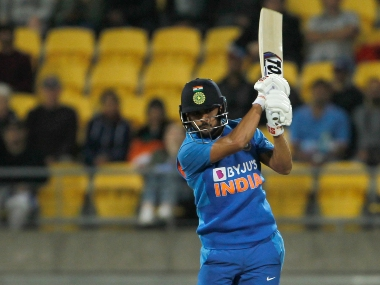 Manish Pandey struck an unbeaten half-century to guide India to a competitive score of 165 in 20 overs. Image courtesy: Twitter @BCCI