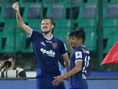 ISL 201920 Nerijus Valskis scores brace as Chennaiyin FC ease past Jamshedpur FC to boost playoff qualification hopes