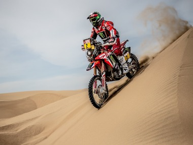 Dakar Rally Hero MotoSports driver Paulo Goncalves registers third top 10 stage finish CS Santosh finishes 32nd in 6th stage