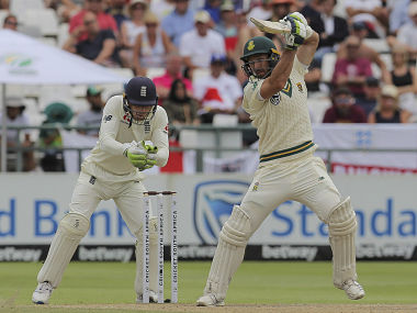 Pieter Malan in action against England on Day 4 of the 2nd Test. AP
