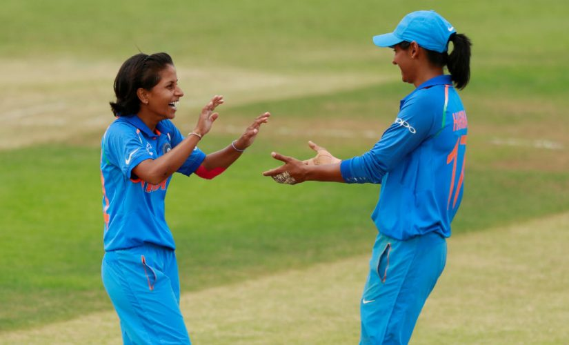 File picture of Poonam Yadav (L). Reuters