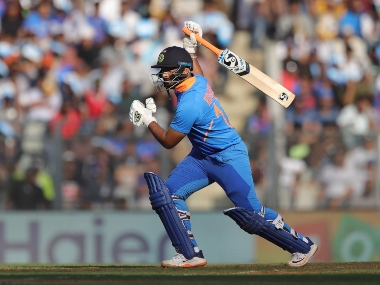 Rishabh Pant (wk) of India bats during the 1st One day International match between India and Australia held at the Wankhede Stadium, Mumbai on the 14th Jan 2020. Photo by Deepak Malik / Sportzpics for BCCI