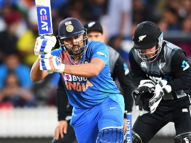 Rohit Sharma smashed a 40-ball 65 in the first innings, before smashing back-to-back sixes in the Super Over. AP