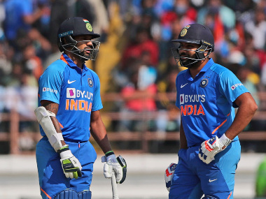 File image of Shikhar Dhawan with his opening partner Rohit Sharma. AP