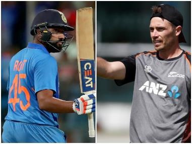 File image, Rohit Sharma and Tim Southee. Agencies