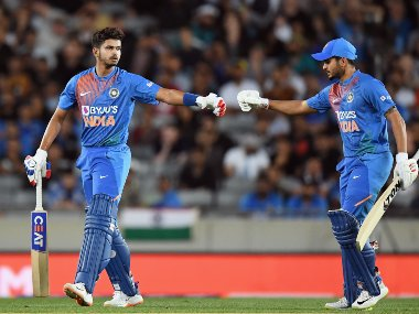 Shreyas Iyer and Manish Pandey stitched an unbroken 62-run stand off just 34 balls to guide India to a six-wicket victory. Getty Images
