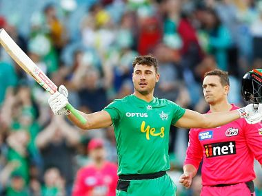 Marcus Stoinis scored the highest individual score in BBL history, a 79-ball 147 for Melbourne Stars. Image Courtesy: Twitter @cricketcomau