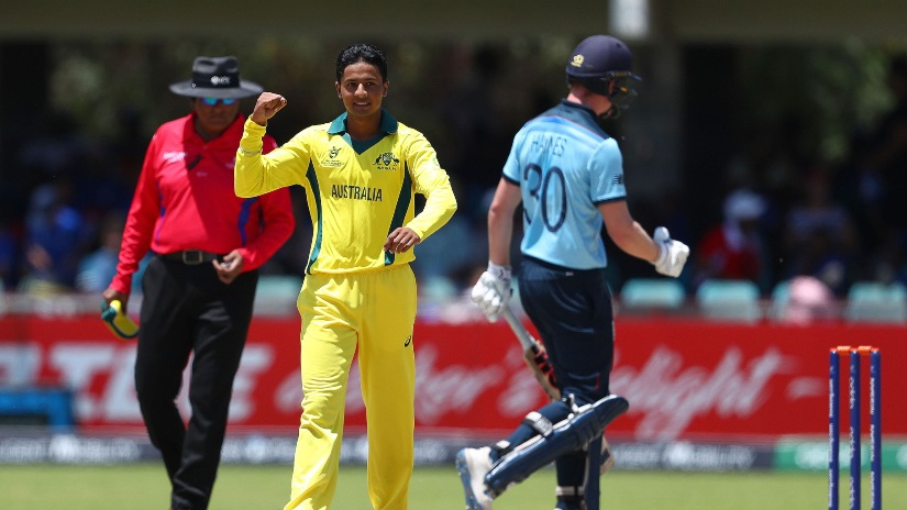 Spinner Tanveer Sangha has 10 wickets to his name in three matches so far. Photo credit: ICC