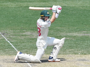 Australia's Marnus Labuschagne bats on day two of the third Test between Australia and New Zealand at the Sydney Cricket Ground, Sydney. AP