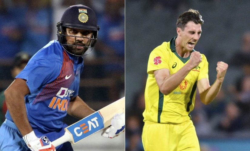 Rohit Sharma (Left) and Pat Cummins (Right). AP