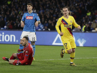 Champions League Antoine Griezmann scores secondhalf equaliser as Barcelona draw 11 against Napoli