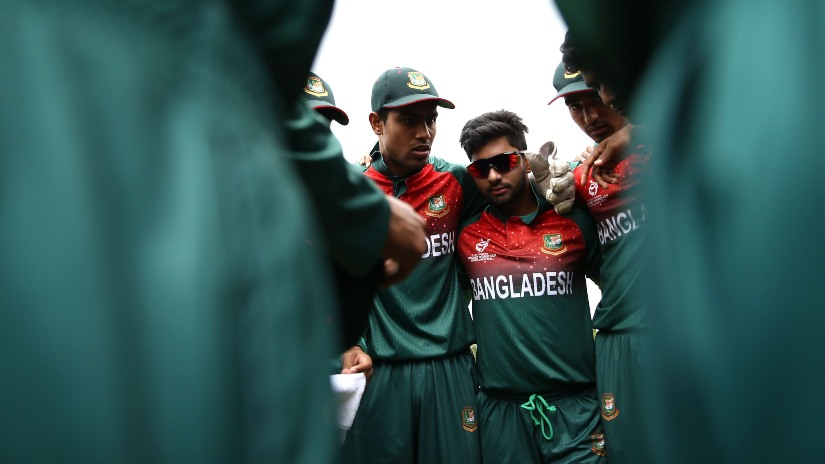 Bangladesh skipper Akbar Ali is seen as a crisis man in his team. Photo ICC