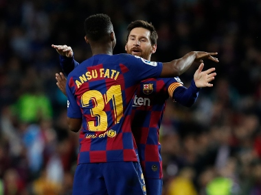 LaLiga Teenager Ansu Fati sets league record in Barcelonas win over Levante Getafe beat Bilbao to jump to third place