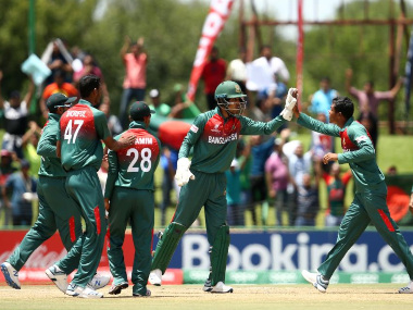 Bangladesh beat India by three wickets to register their first-ever U-19 World Cup triumph. Image credit: Twitter/@cricketworldcup