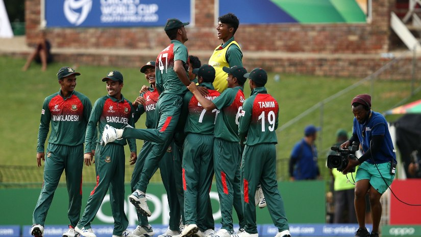 Bangladesh are into their first U-19 World Cup final and will face India. Photo @ICC