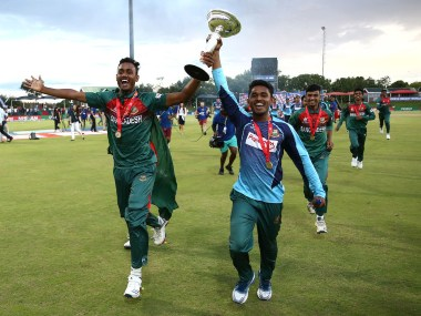 Bangladesh defeated India by three wickets in the final to lift the U-19 World Cup for the first time. Image credit: Twitter/@cricketworldcup