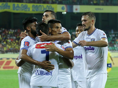 ISL 201920 Chennaiyin FC edge closer to playoffs spot after 63 win over Kerala Blasters FC in goalfest