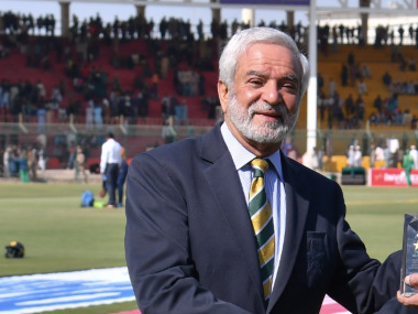 File image of PCB chairman Ehsan Mani. Image credit: Twitter/@TheRealPCB