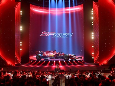 Formula 1 2020 Ferrari show off new SF1000 car for upcoming season with a touch of theatre