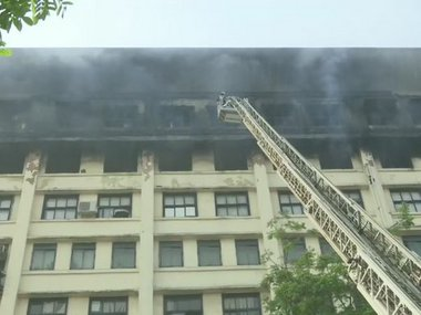 Level4 fire breaks out at Mumbais GST Bhavan no casualties reported Ajit Pawar says no official records destroyed in blaze