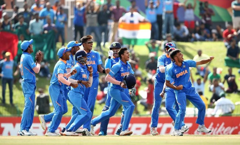 India players during the ICC Under-19 World Cup 2020. Image credits @cricketworldcup