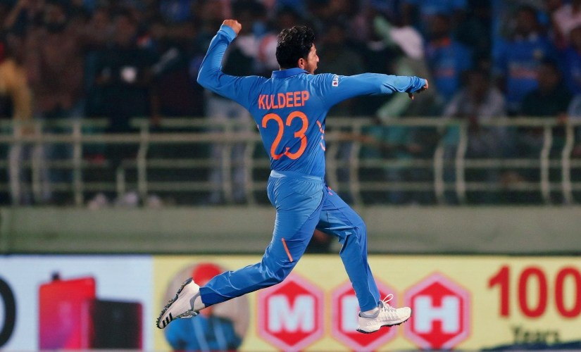 Kuldeep Yadav is the only Indian with two ODI hat-tricks to his name. Photo @imkuldeep18