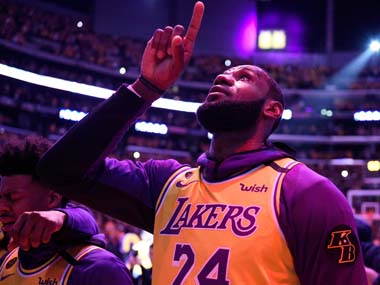 NBA Los Angeles Lakers LeBron James says hes definitely not giving up on the season