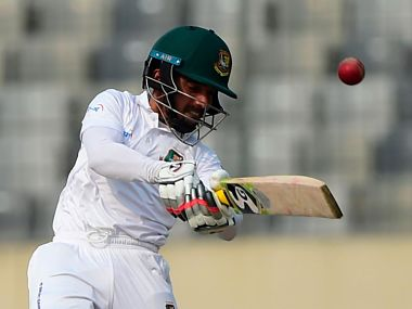 Mominul Haque in action against Zimbabwe. Image Courtesy: Twitter @ICC