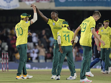 Lungi Ngidi took three wickets in the final. AP