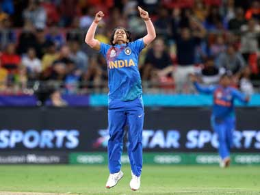 Poonam Yadav took 10 wickets in 10 matches at the ICC Women's T20 World Cup. AP