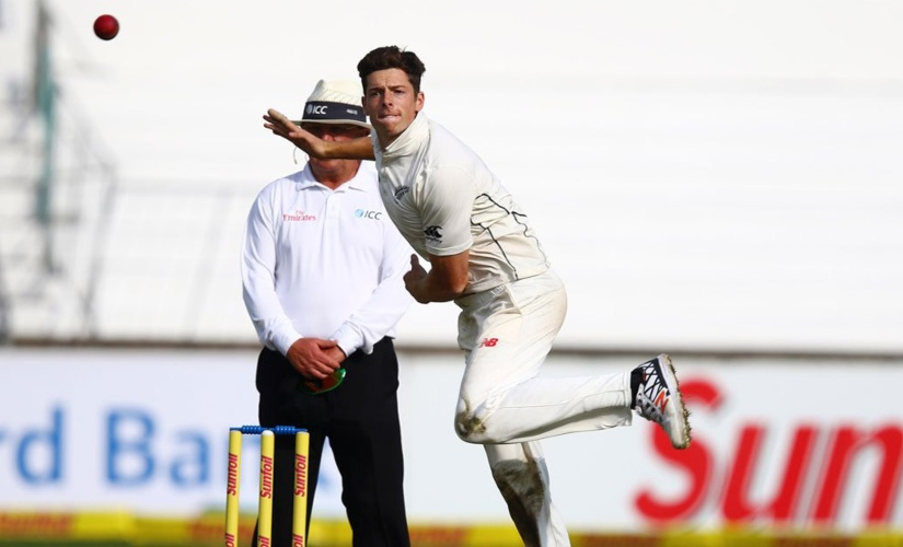 Not big on highlights reel but Mitchell Santner is New Zealand's best spinner in home Tests. Image courtesy: Twitter @BLACKCAPS
