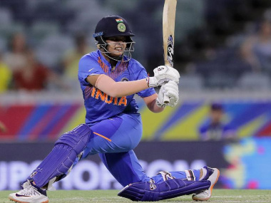 Shafali Verma's explosive hitting at the top of the order has been a major positive so far for India in their campaign. Image credit: Twitter/@T20WorldCup
