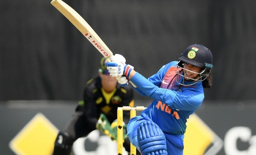 Smriti Mandhana during the recently concluded women's T20I tri-series in Australia, featuring India, Australia and England. Image credits @ICC