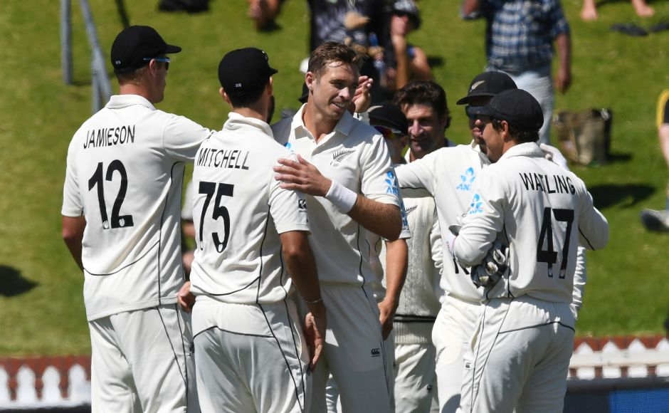 Tim Southee Trent Boult bowl New Zealand to 10wicket win against India capping 100 victories in Test cricket