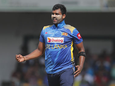 Thisara Perera is part of the ongoing three-match ODI series against Windies. AP