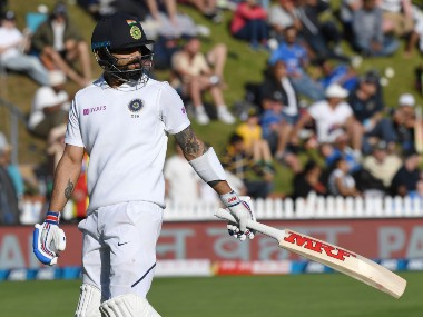 Virat Kohli scored a total of 21 runs in 1st Test at Wellington against New Zealand. AP