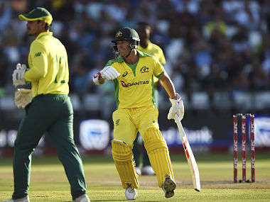 David Warner in action against South Africa in the 3rd T20I at Newlands. AP