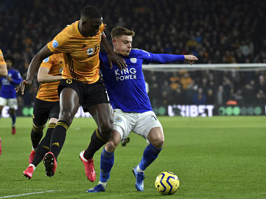 Premier League Willy Bolys header ruled out by VAR as Wolves play out goalless draw against Leicester City