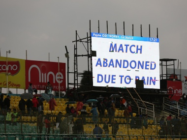 Inclement weather and heavy rains didn't provide an opportunity for play to begin in first ODI between India and South Africa in Dharamsala. Sportzpics