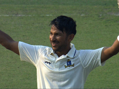 Anustup Majumdar remained unbeaten on 58 at stumps on Day 4 of the final. Image credit: Twitter/@BCCIdomestic