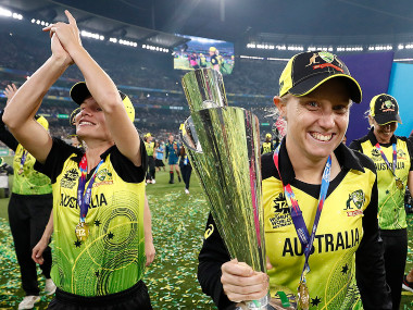 Australia lifted their fifth T20 World Cup title after beating India by 85 runs in front of an 86-174 strong crowd at the MCG. Image credit : Twitter/@AusWomenCricket