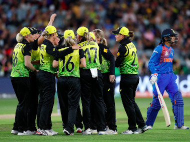 Australia posted a record 184/4 after opting to bat, before dismantling India for a lowly 99 to register a lop-sided win. AP