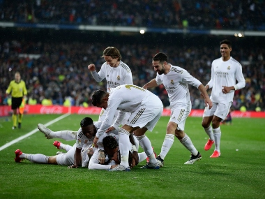 LaLiga Vinicius Junior revels in decisive clasico goal to put Real Madrid on top Atletico Madrid held by Espanyol
