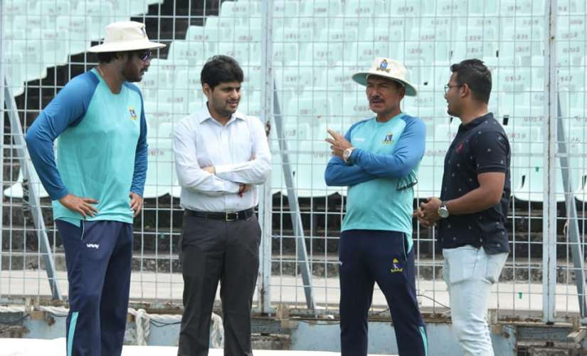 Arun Lal (third from left) has been part of the Bengal cricket setup since 1981 and is the coach now. Image: Facebook/CABCricket