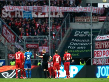 Bundesliga Bayern Munich crush Hoffenheim 60 after game interrupted over banner