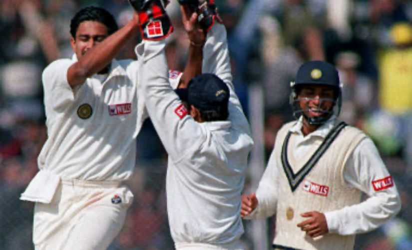 Anil Kumble bowled through the Pakistan batting in Delhi in 1999. AFP