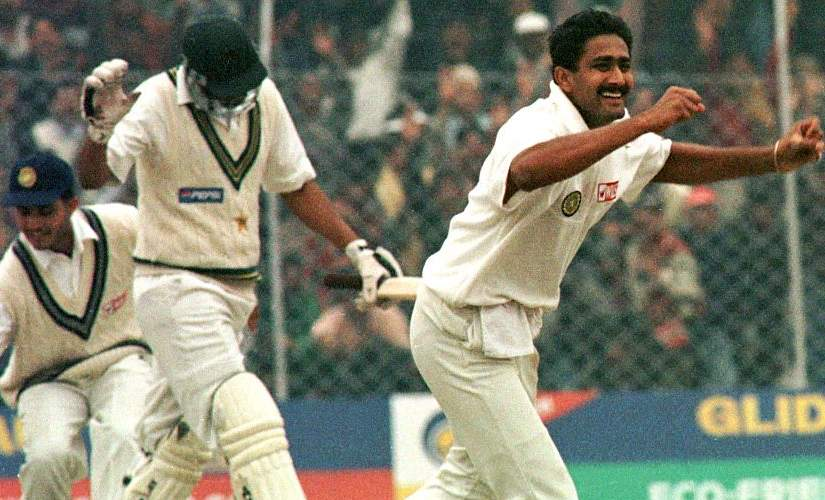 Anil Kumble became the only second bowler to take all 10 wickets in an innings to equal England's Jim Laker's world record for most wickets in an innings. Reuters