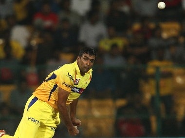 R Ashwin of the Chennai Super Kings sends down a delivery during match 8 of the Oppo Champions League Twenty20 between the Sunfoil Dolphins and the Chennai Super Kings held at the M. Chinnaswamy Stadium, Bengaluru, India on the 22nd September 2014 Photo by: Shaun Roy / Sportzpics/ CLT20 Image use is subject to the terms and conditions as laid out by the BCCI/ CLT20. The terms and conditions can be downloaded here: http://sportzpics.photoshelter.com/gallery/CLT20-Image-Terms-and-Conditions-2014/G0000IfNJn535VPU/C0000QhhKadWcjYs
