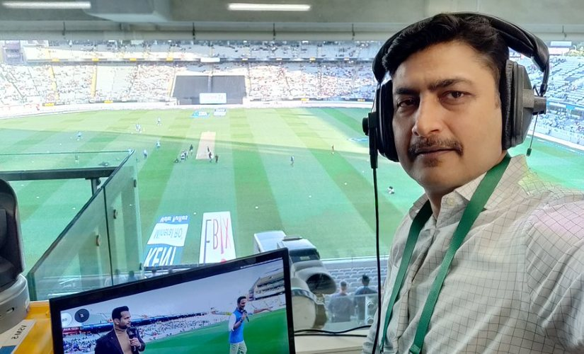 """In the last 30 odd years, not many wicketkeepers have been part of the media or broadcast,"" says Deep Dasgupta, one of the few 'keepers who seem to have broken the mould. Image credit: Twitter/@DeepDasgupta7"